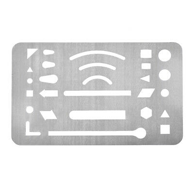 uxcell Erasing Shield 21 Patterns Stainless Steel Drawing Template 3pcs