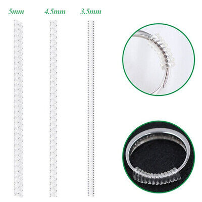 6Pcs Ring Size Adjuster Resizer Reducer Snuggies Spiral Sizer Fits All Size UK W