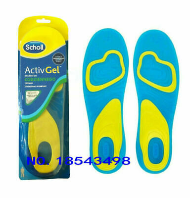 NEW SCHOLL Gel Activ Everyday Shock Absorption Insoles Men(UK8-13) Women(UK4-8)
