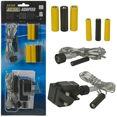 Mains to Battery Replacer Eliminator AA AAA Adaptor Charger Electronic Devices
