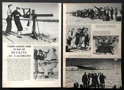 .50 Caliber Machine Gun WWII 1941 Soldiers Training Fort Tilden NY pictorial
