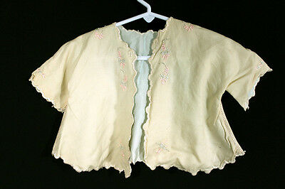 Antique Child's Edwardian Wool Infant Jacket Size 6 Months