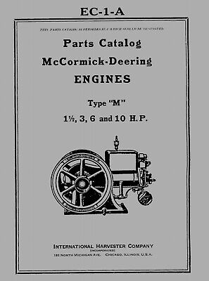 McCormick Deering  Type  M  Parts Catalog  CD