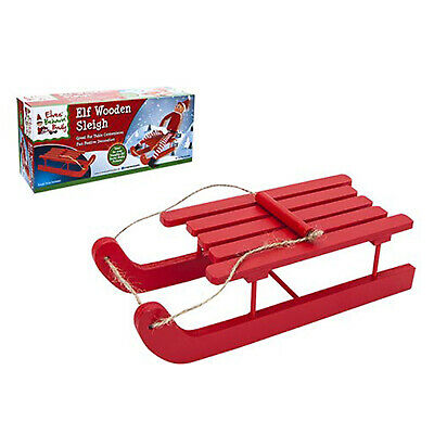 Elves Behaving Badly Wooden Elf Sleigh Toys Accessories - Red