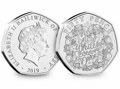 2019 CHRISTMAS PANTOMIME SNOW WHITE  BUNC  50p Fifty Pence Coin , Low Mintage