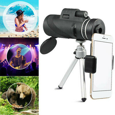 40 x 60 Universal HD Cell Phone Zoom Lens Telescope Camera Monocular Tripod Clip