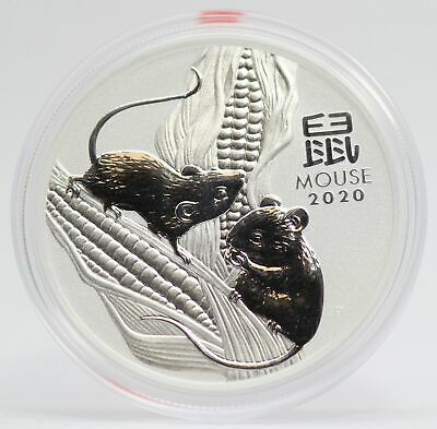 2020 Australia Year of the Mouse 1 oz 999 Ag Silver $1 Coin Lunar - JD509