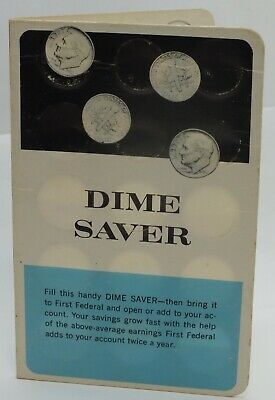 Dime Saver Card First Federal Savings Chicago IL $3 Vintage Bank Promo AD LF391