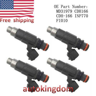 Set of 4 OEM Fuel Injectors CDH166 For Mitsubishi  Mirage 1997-2002 1.5L Engines