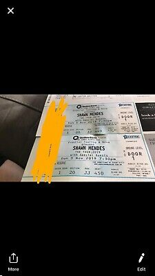 2 Shawn Mendes Tickets For Sunday
