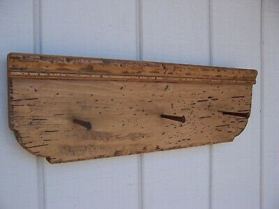 Primitive Rustic Pine Country Wall Shelf Rack Farmhouse Wood Shelves Hanging