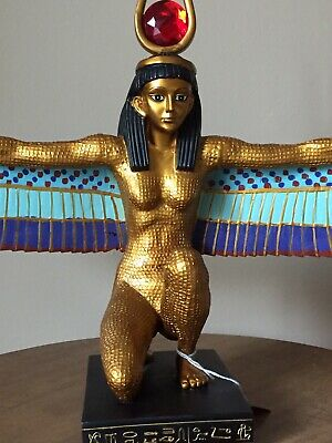"Egyptian Isis Ancient Egypt Egyptian Open 23"" Wings Figurine Sculpture Statue"