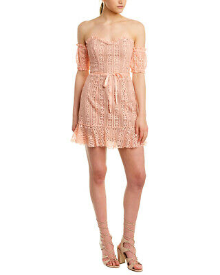 For Love Lemons Dakota Lace Mini Dress Pink Womens