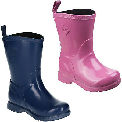 Muck Boots Bergen Mid Wellington Boots Kids Boys Girls Waterproof Winter Shoes