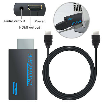 Wii to HDMI 3.5mm Audio Converter Adapter 480i 480p 1080P for Nintendo Wii NTSC