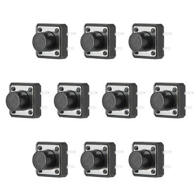 12x12x8mm Panel Micro PCB Momentary Tactile Tact Advance Button Switch DIP 10PCS
