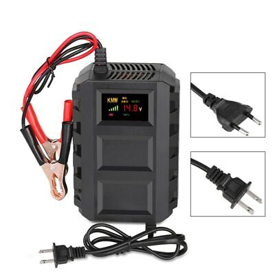 12V 20A Smart Car Battery Charger Lead Acid LCD Motorcycle Display Replenisher