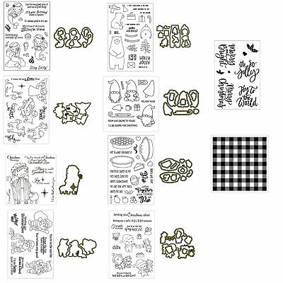 Combination Series Clear Stamps Metal Cutting Dies Stencil For Scrapbooking Card
