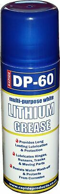 DP 60 White Lithium Grease Maintenance Spray Can Synthetic Lubricant - 200ml