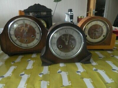 2 Westminster Chime Clocks And Smiths Enfield Chime Clock For Spares/Repair