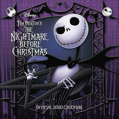 Nightmare Before Christmas 2020 Official Square Wall Calendar