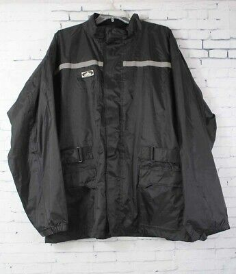 New Choko Mens Motorcycle Rain Jacket XXL Black