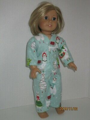 """Llama Decorated for Christmas Pajamas for 18"""" Doll Clothes American Girl"""