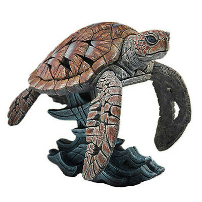 SEA TURTLE Evocative Fiercely Modern Hand Crafted Sculpture Edge Figurine