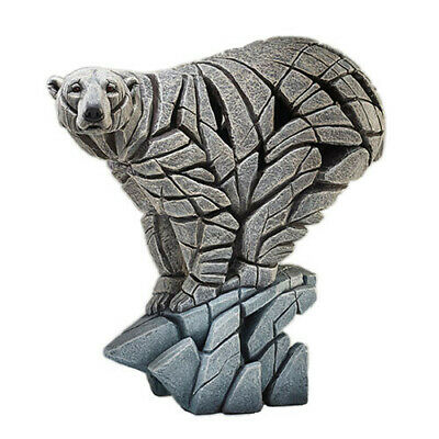 POLAR BEAR Evocative Fiercely Modern Hand Crafted Sculpture Edge Figurine