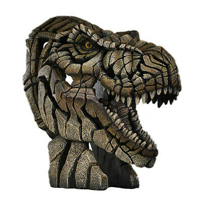 T-REX Contemporary Sculpture Hand Crafted and Painted Edge Sculpture Bust
