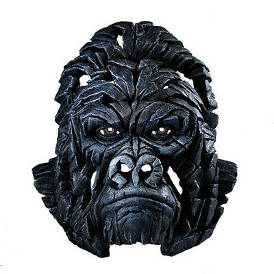 GORILLA Contemporary Sculpture Hand Crafted and Painted Edge Sculpture Bust