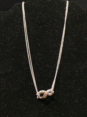 Tiffany & Co Sterling Silver Infinity Necklace