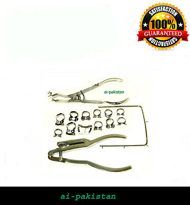 AIP NEW 15 Pieces Dental Rubber Dam Kit of Surgical Instruments Set