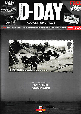 GB 2019 D-DAY A4 SIZE ROYAL MAIL SOUVENIR STAMP PACK Produced for W.H.SMITH