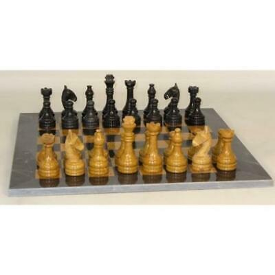 "Worldwise Chess & chess Accessories WorldWis 16"" Black and Gold Marble Box MINT"