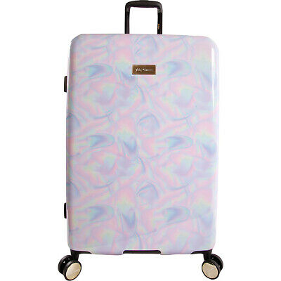 """Juicy Couture Juicy Belinda 29"""" Spinner - Holographic Hardside Checked NEW"""
