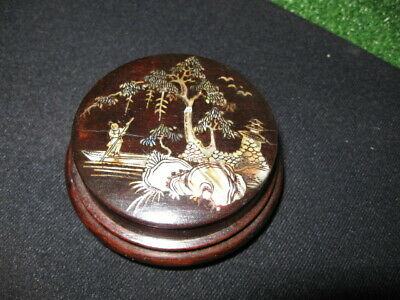 Chinese Compass Wood Hand Carved Taoist Compass Antique Chinese Calendar