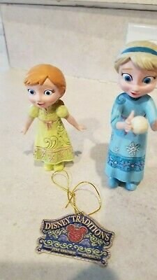Disney Theme Parks Jim Shore Young Elsa, Young Anna, and Olaf - not a set - New