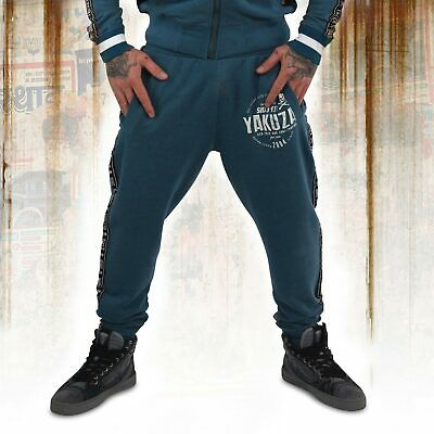 New Yakuza Men's Bath Side Joggers - Mallard Blue
