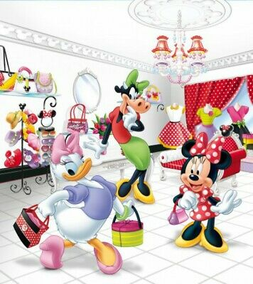 MINNIE MOUSE COLORFUL Photo Wallpaper Wall Mural DISNEY for KIDS  73x202cm