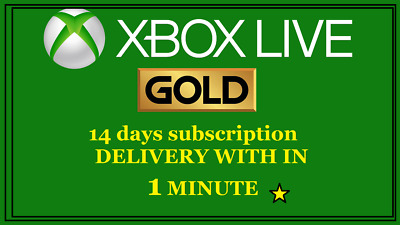 XBOX LIVE GOLD 14 days Game Subscription Code KEY for Xbox One 1 minute delivery