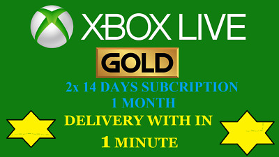 XBOX LIVE GOLD Game Subscription KEY 1 Month 2 x 14 days for Xbox One WORLDWIDE