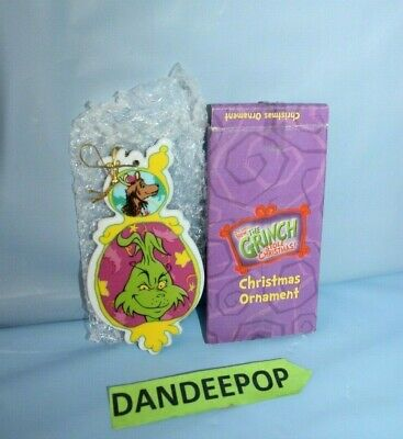 Dr. Seuss How The Grinch Stole Christmas Ornament In Box C.2000 Universal Studio