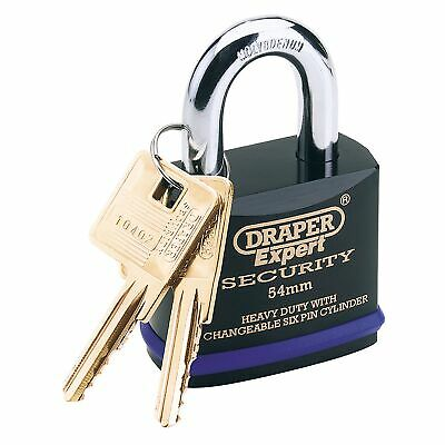 Draper Expert 54MM Heavy Duty Padlock with Super Tough Steel Shackle 8311/54