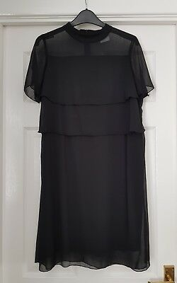 Mamalicious nursing dress- black layers, sheer chiffon, size small 10, worn once