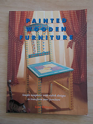 Painted Wooden Furniture~Cate Withacy~20+ Projects~Templates~Folk Art~128pp P/B