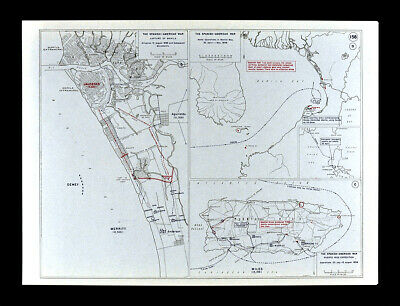West Point Map - Spanish American War Manila Philippines & Puerto Rico San Juan