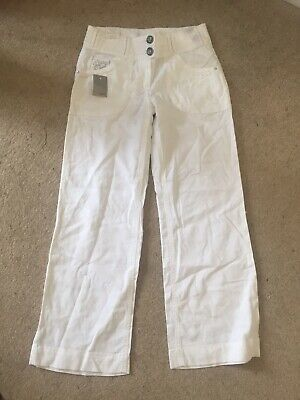 *New*bnwt* Girls White Summer Trousers, Next, Age 10