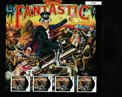 Gb 2019 Elton John Captain Fantastic Fan Sheet Mnh