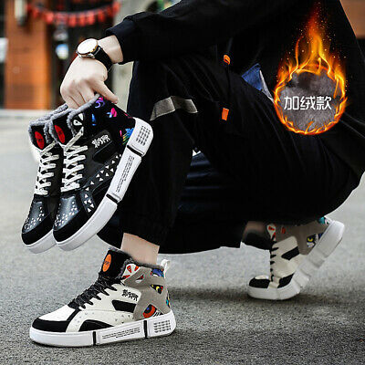 Mens Womens Winter Sports Warm Shoes Athletic Outdoor Snow Sneakers High top